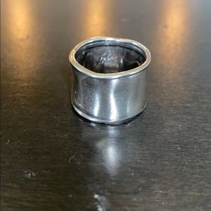 Silpada Hammered Sterling Silver Cuff Ring Size 7